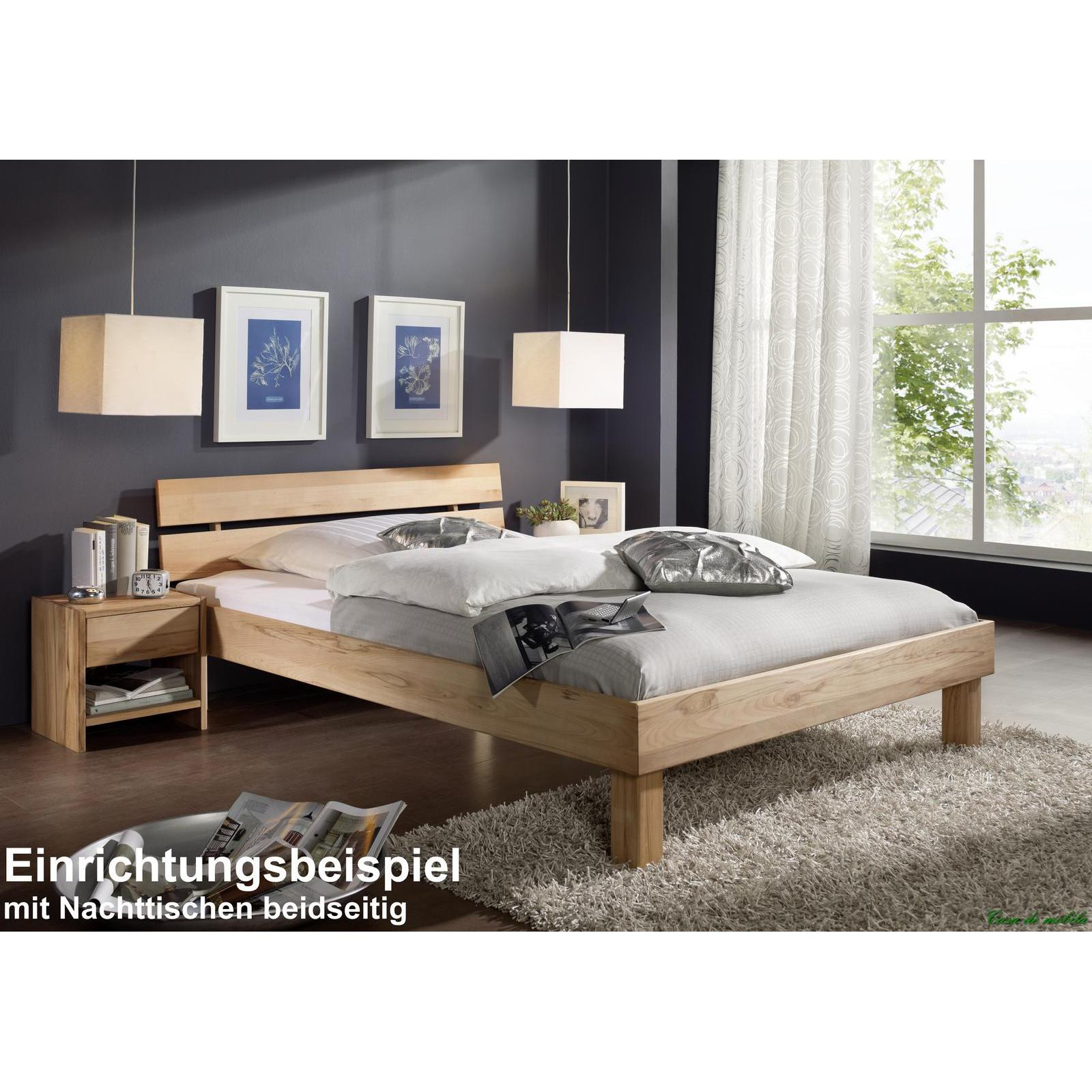 Einzelbett mit schubladen buche  Massivholz bett mit schubladen buche massiv CAMPINO - 90x200, 2 ...
