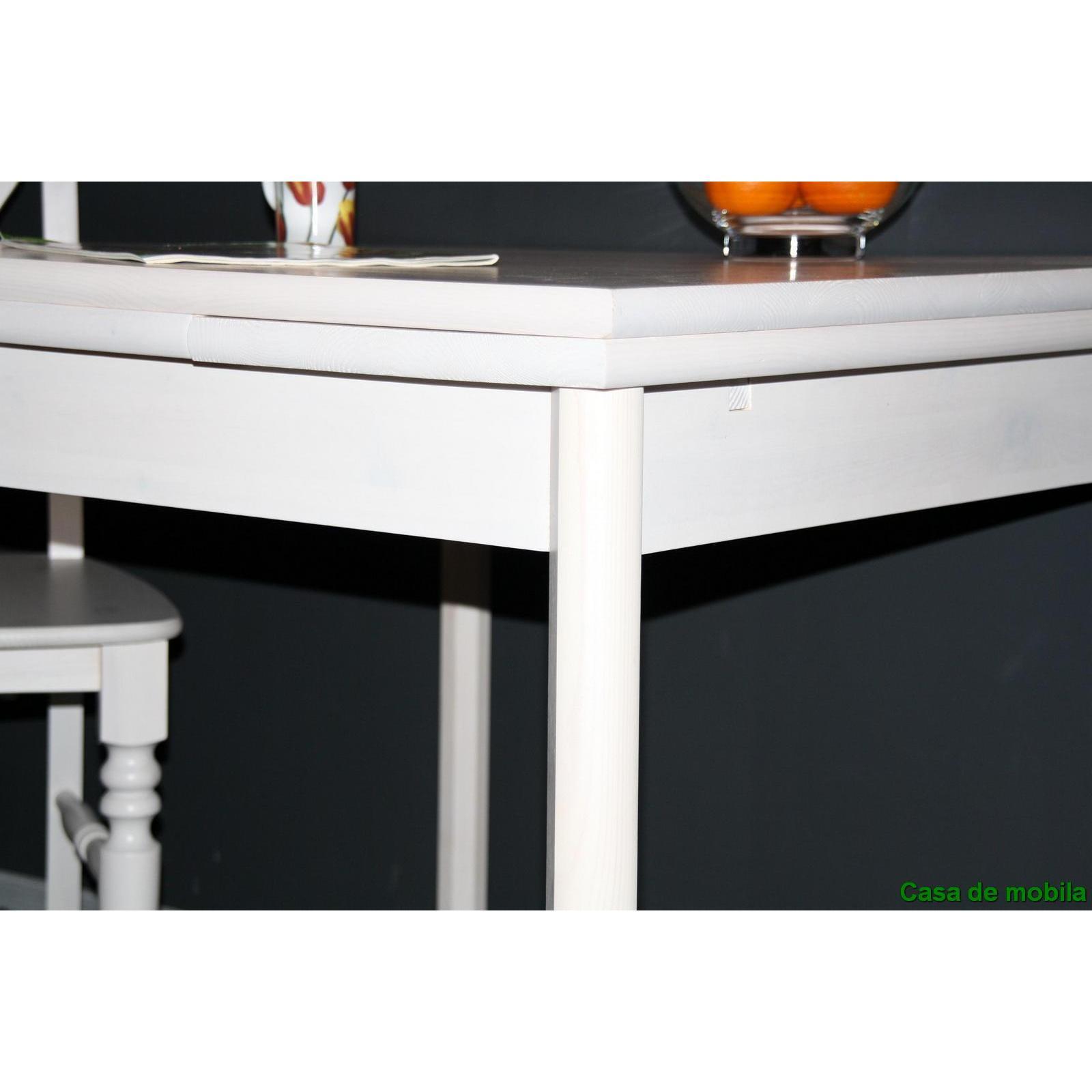 Küchentisch Massivholz Ausziehbar Weiß : Massivholz Esstisch ausziehbar Kiefer massiv weiß Küchentisch ...