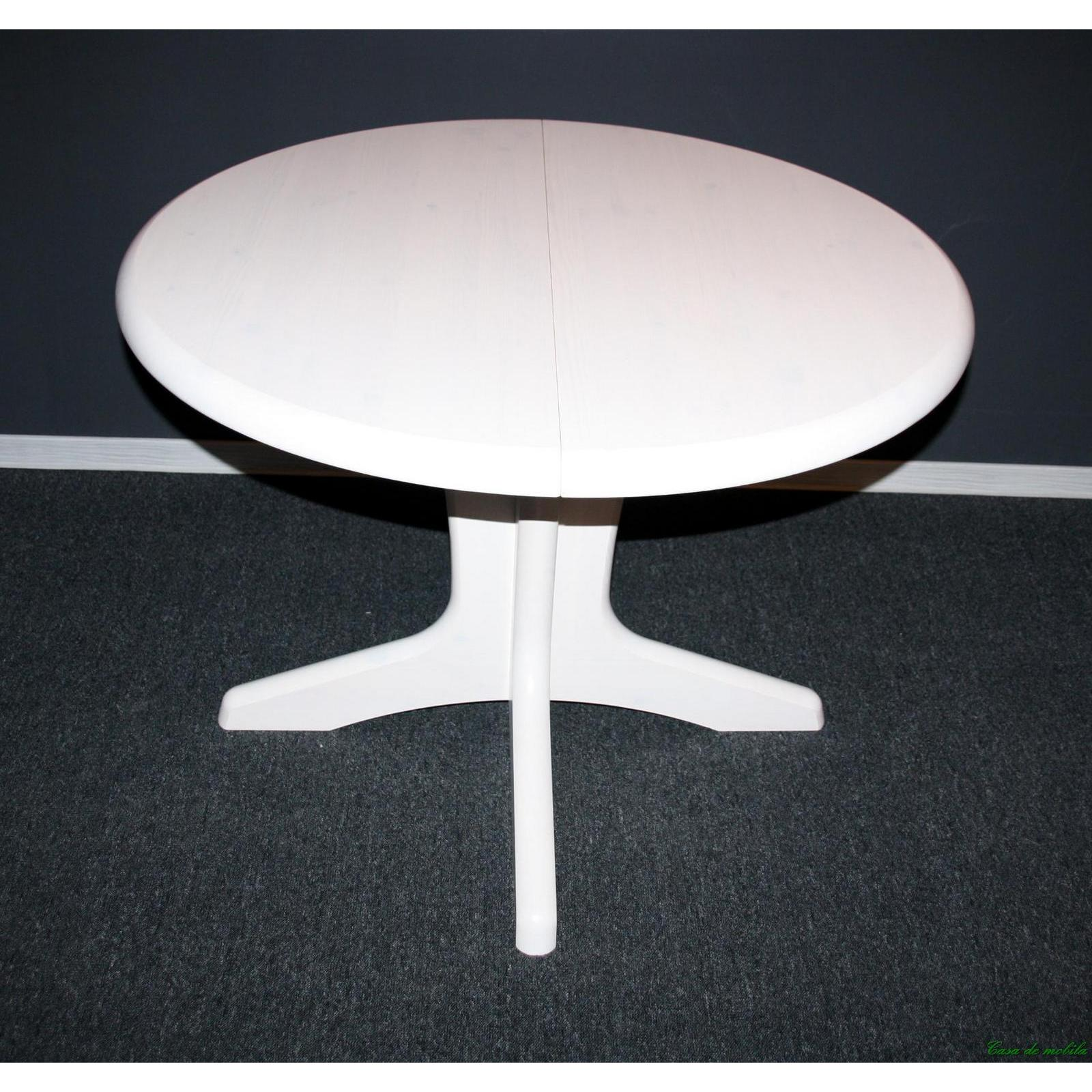 Esstisch Holz Weiss Lasiert ~ Esstisch 105×105 rund Stella mit Einlegeplatte  Holz Kiefer weiß