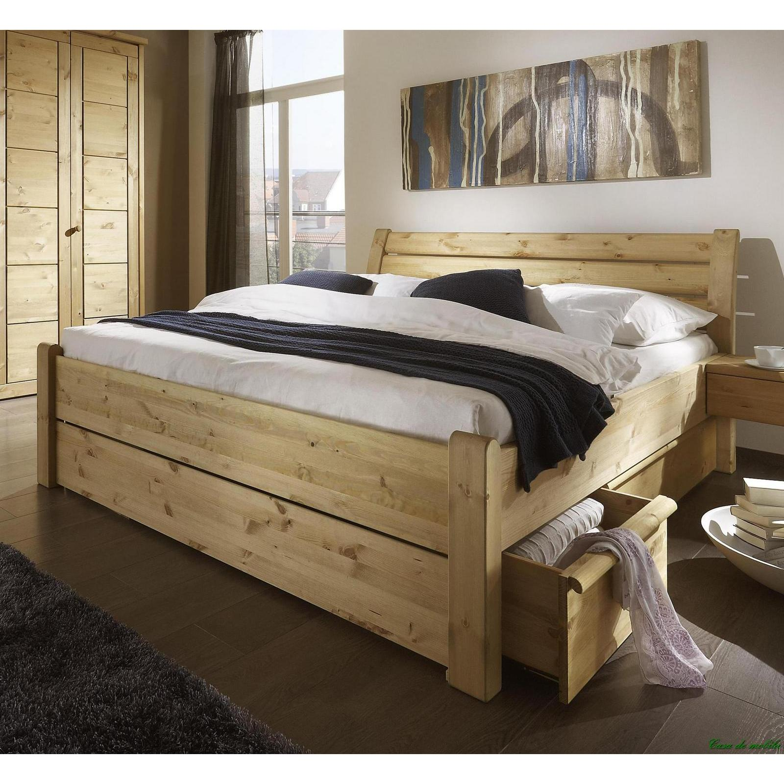 doppelbett betten mit schubladen 140x200 holz kiefer gelaugt ge lt greta. Black Bedroom Furniture Sets. Home Design Ideas