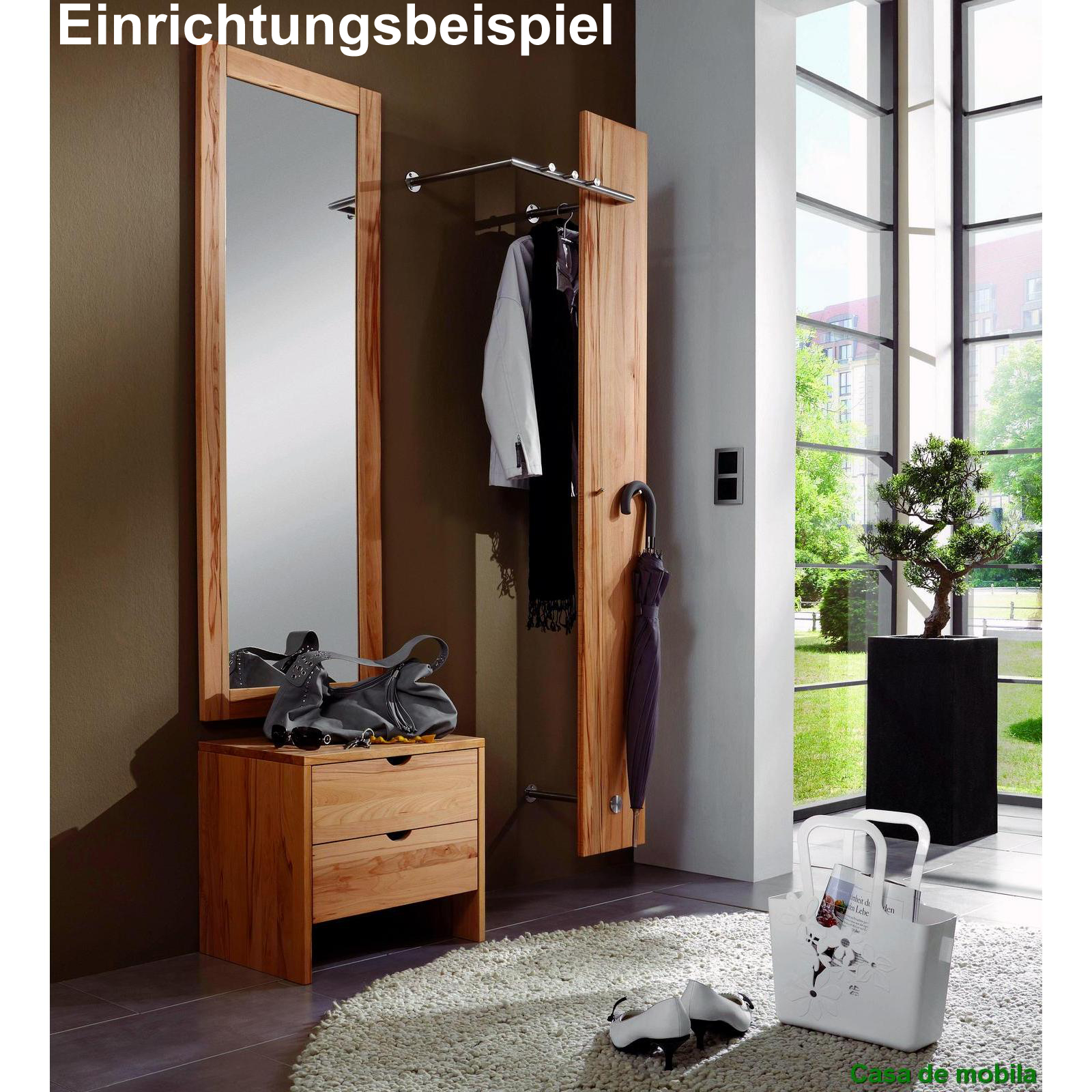 massivholz wandspiegel kernbuche natur ge lt take it. Black Bedroom Furniture Sets. Home Design Ideas