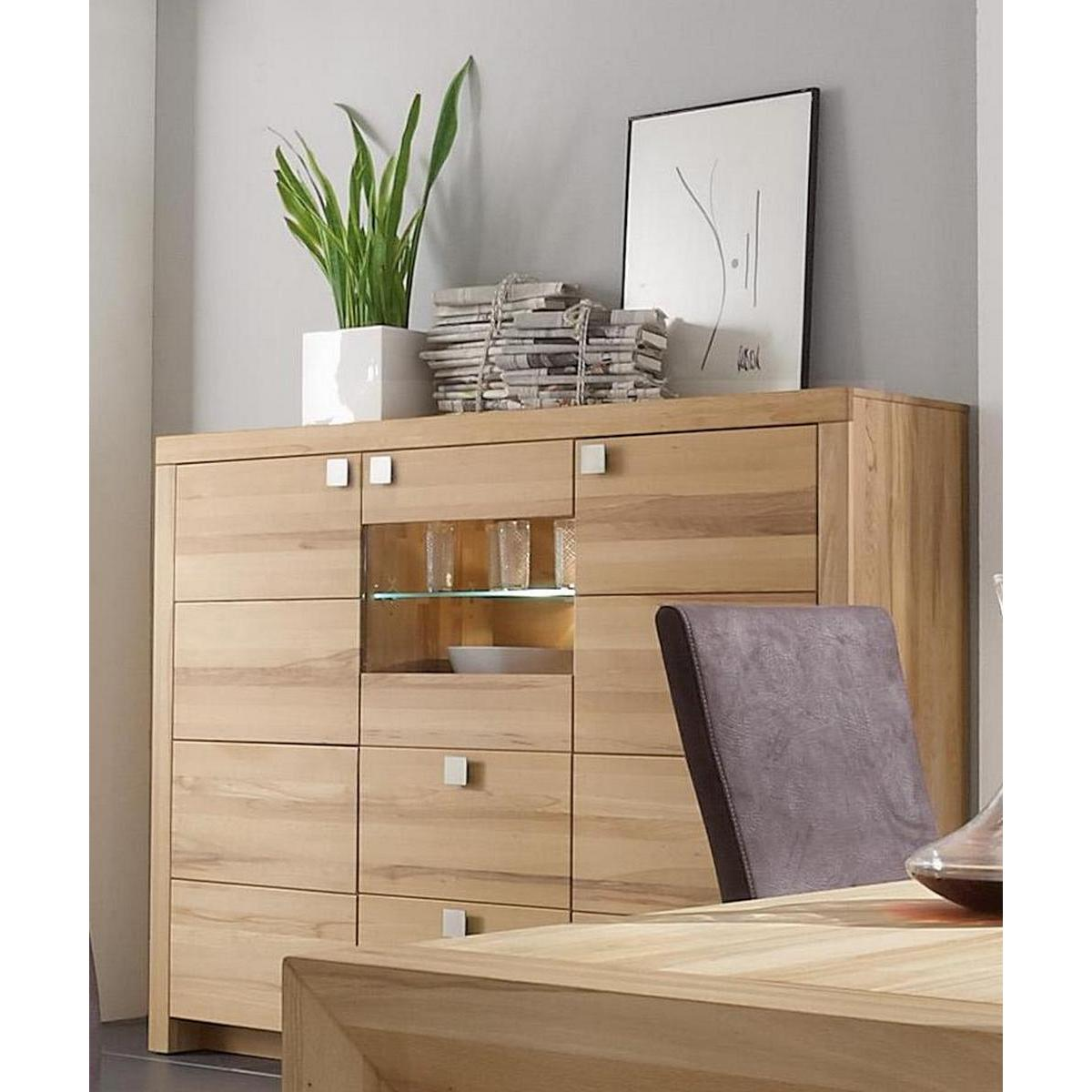 massivholz highboard messina kernbuche massiv ge lt. Black Bedroom Furniture Sets. Home Design Ideas