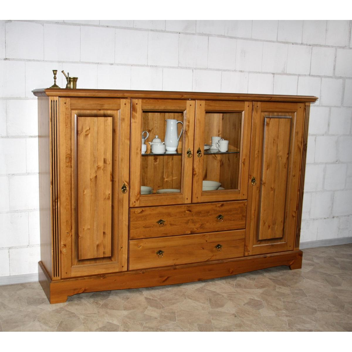 landhaus highboard 4 t rig kiefer massiv honig g teborg. Black Bedroom Furniture Sets. Home Design Ideas