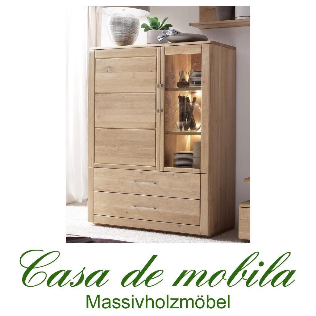 massivholz highboard rechts oxford wildeiche massiv bianco ge lt. Black Bedroom Furniture Sets. Home Design Ideas
