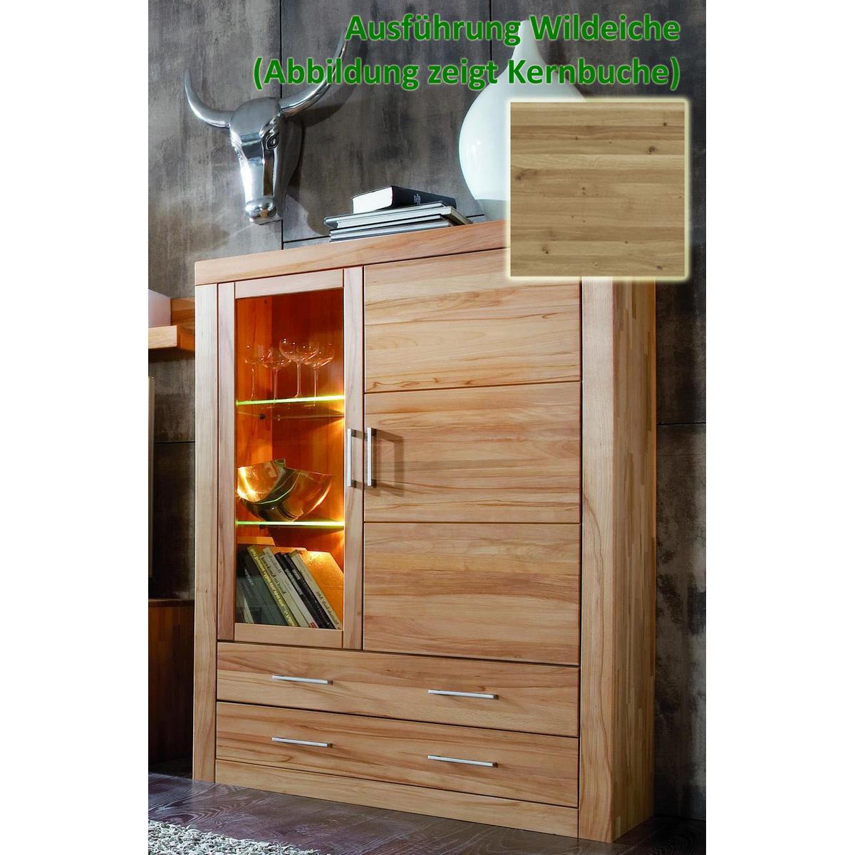 vitrinenschrank wildeiche eiche massiv ge lt ii jale in goslar. Black Bedroom Furniture Sets. Home Design Ideas