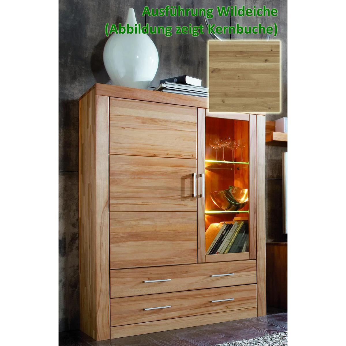vitrinenschrank holz wildeiche eiche massiv ge lt iia jale. Black Bedroom Furniture Sets. Home Design Ideas