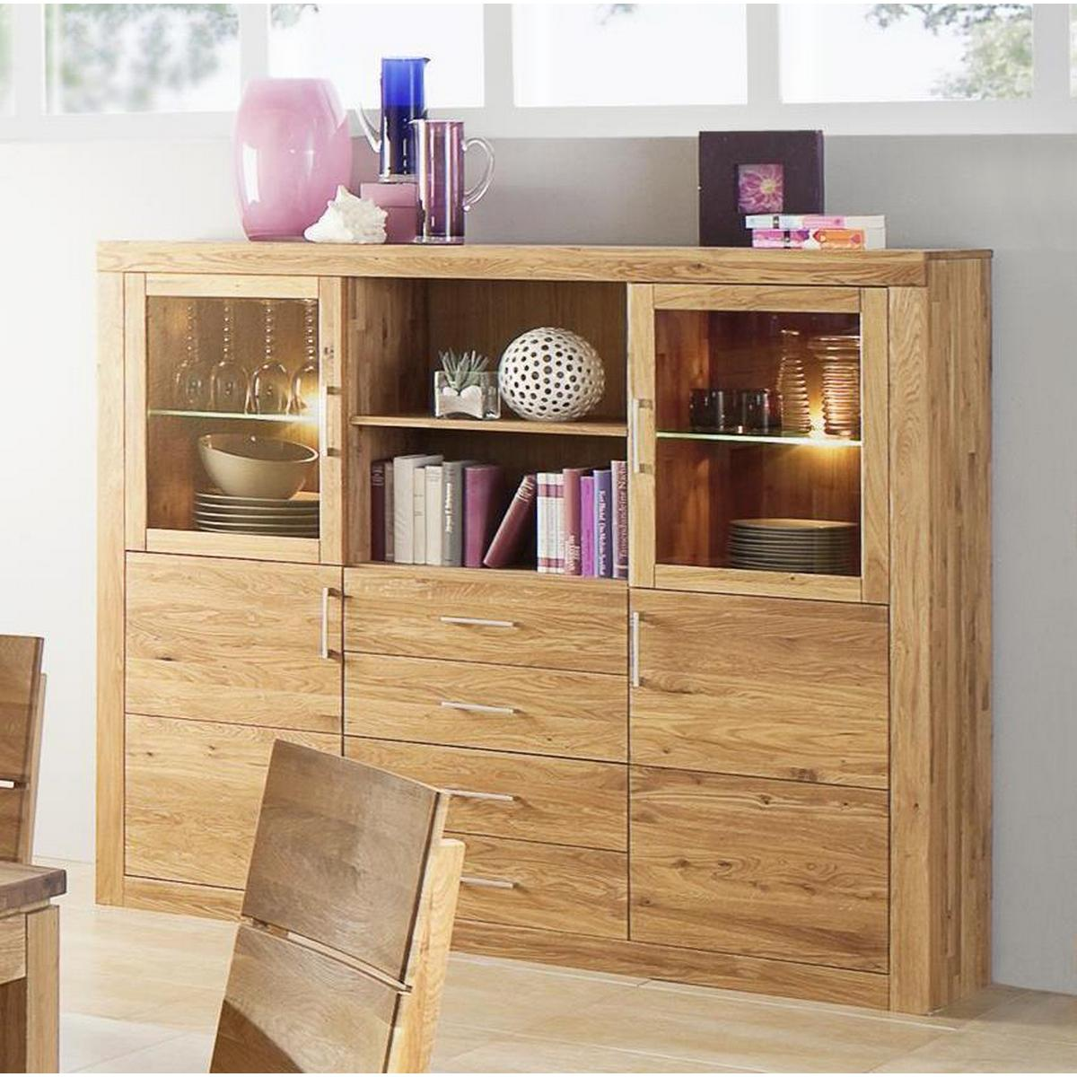 wohnzimmer highboard holz wildeiche massiv ge lt i jale. Black Bedroom Furniture Sets. Home Design Ideas