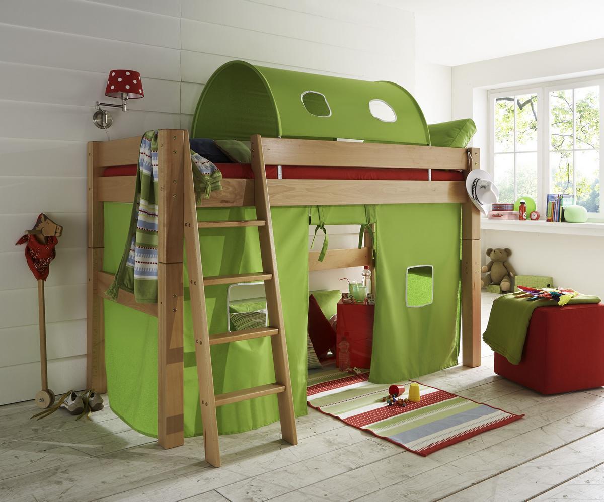 spielbett hochbett tobykids buche massiv bio ge lt mit. Black Bedroom Furniture Sets. Home Design Ideas