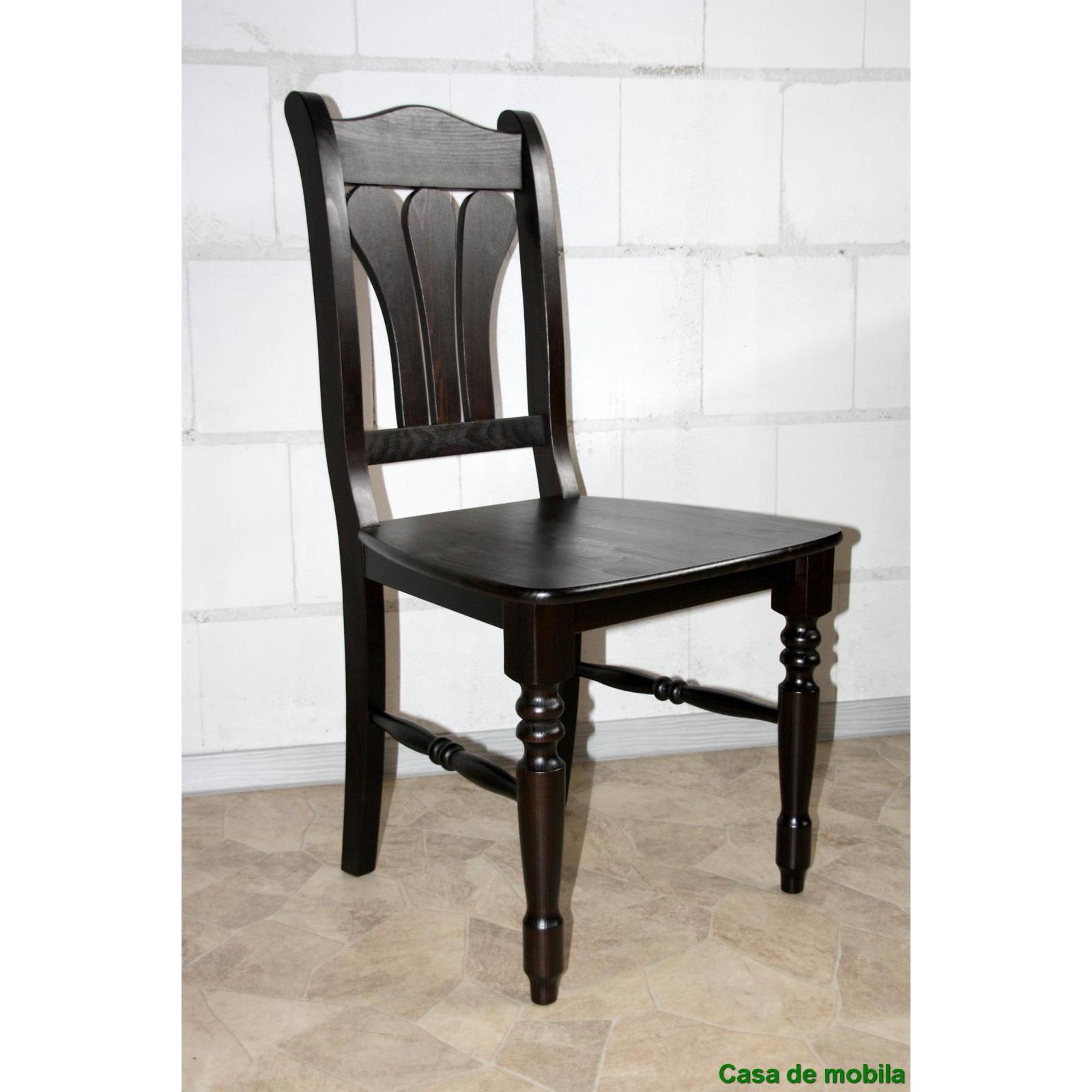 Massivholz Stuhl kolonial Kiefer massiv lackiert LANDHAUS - Holzstuhl ...