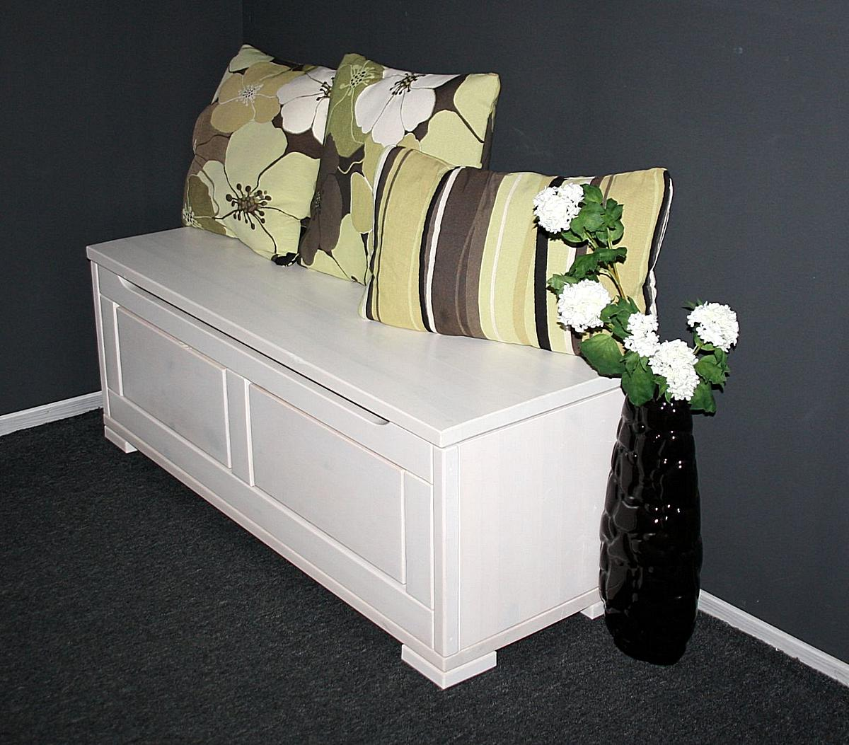 truhe deckeltruhe gro guldborg kiefer massiv weiss lasiert. Black Bedroom Furniture Sets. Home Design Ideas