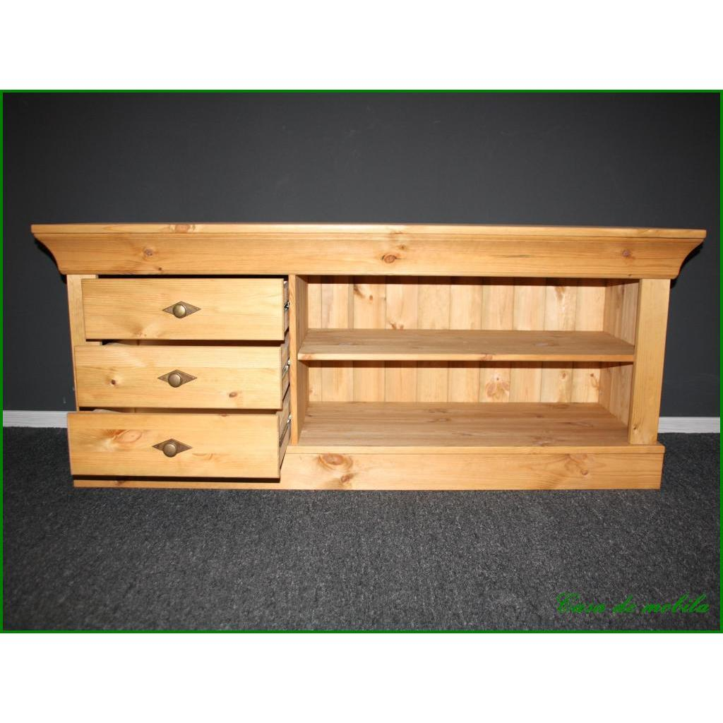 landhaus fernsehkommode fernsehschrank tv lowboard kiefer. Black Bedroom Furniture Sets. Home Design Ideas