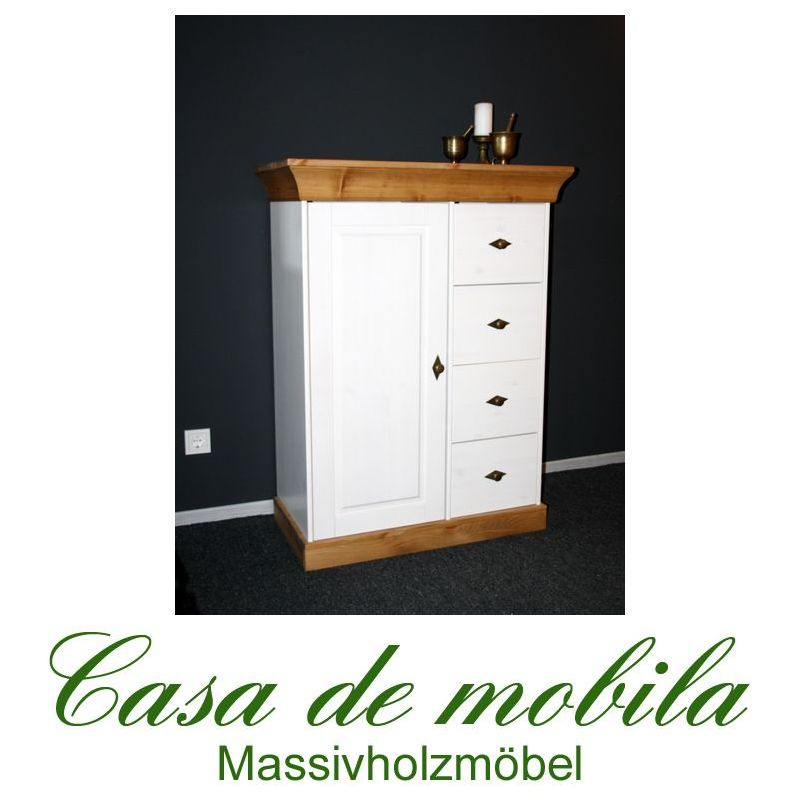 landhaus brotschrank kiefer 2 farbig weiss gebeizt ge lt bergen. Black Bedroom Furniture Sets. Home Design Ideas