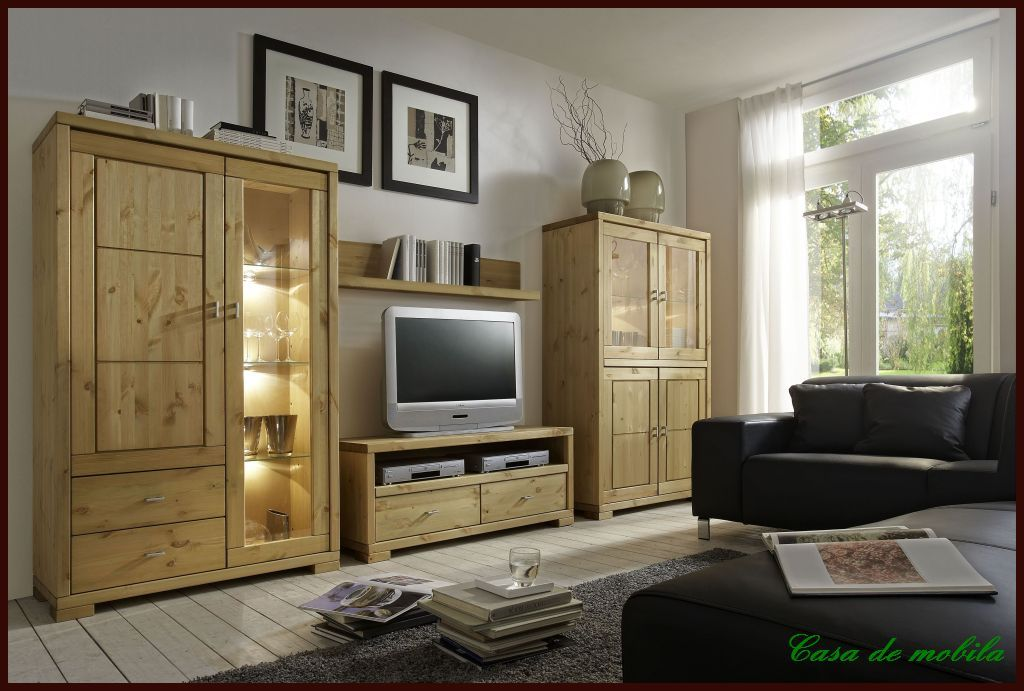massivholz highboard guldborg kiefer massiv ge lt lackiert provance weissnaturholz. Black Bedroom Furniture Sets. Home Design Ideas