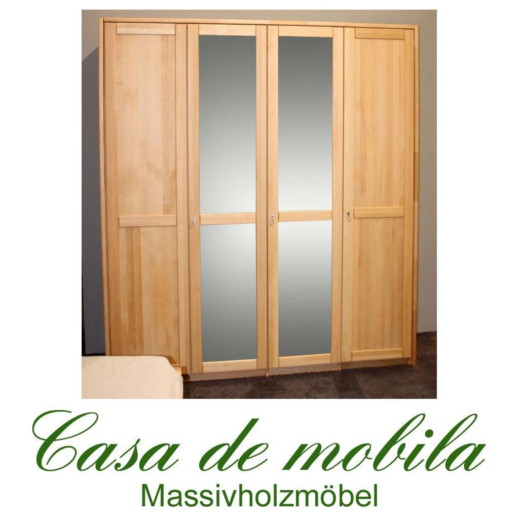 echtholz kleiderschrank mit spiegel buche massiv ge lt front2 4 t rig mit 2 spiegeln. Black Bedroom Furniture Sets. Home Design Ideas