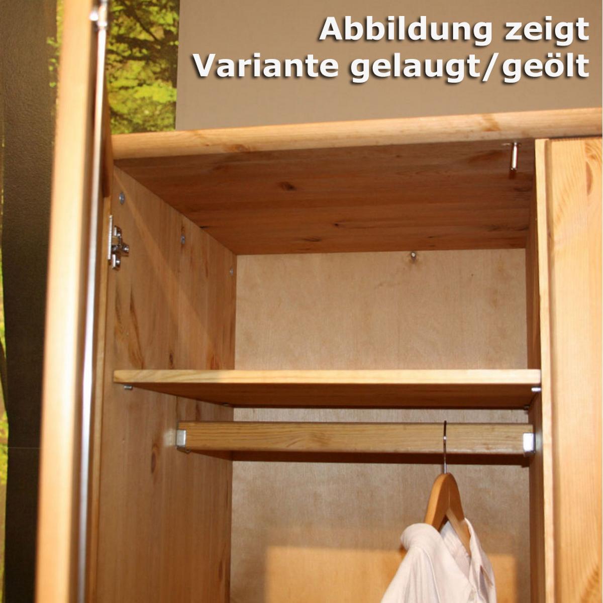 Spiegelschrank Kleiderschrank mit Spiegel weiß lasiert 4-türig ... | {Spiegelschrank kiefer 27}