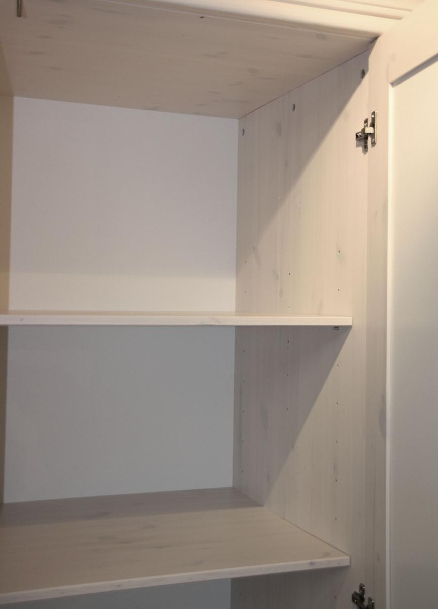 Landhaus Schlafzimmer Kleiderschrank mit Spiegel 5-türig weiß holz ...