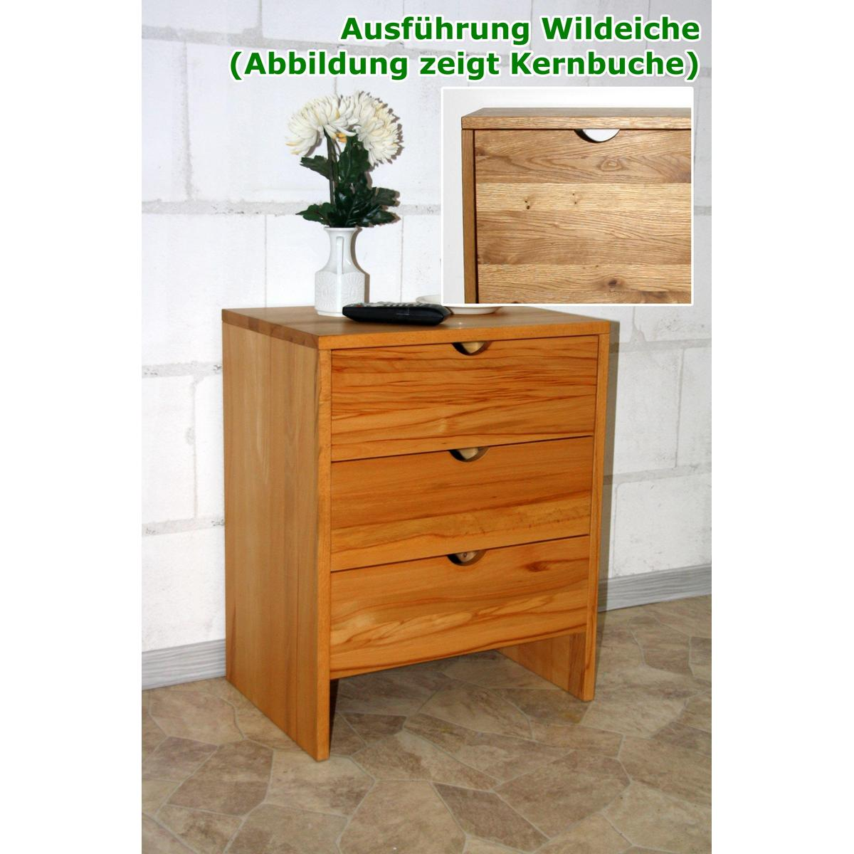 kommode schmal take it wildeiche massiv ge lt gewachst. Black Bedroom Furniture Sets. Home Design Ideas