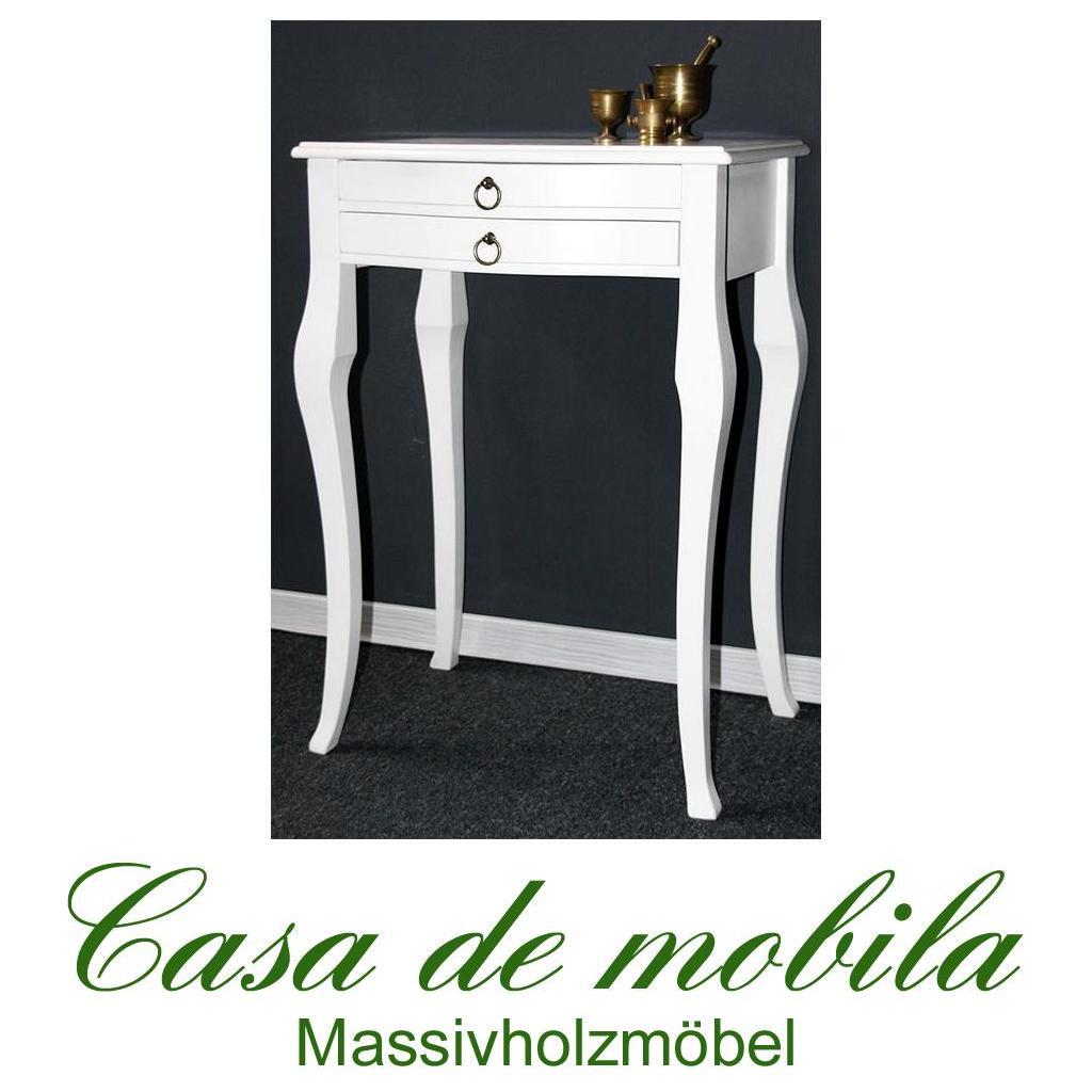 beistelltisch lampentisch wandtisch barok weiss lackiert. Black Bedroom Furniture Sets. Home Design Ideas