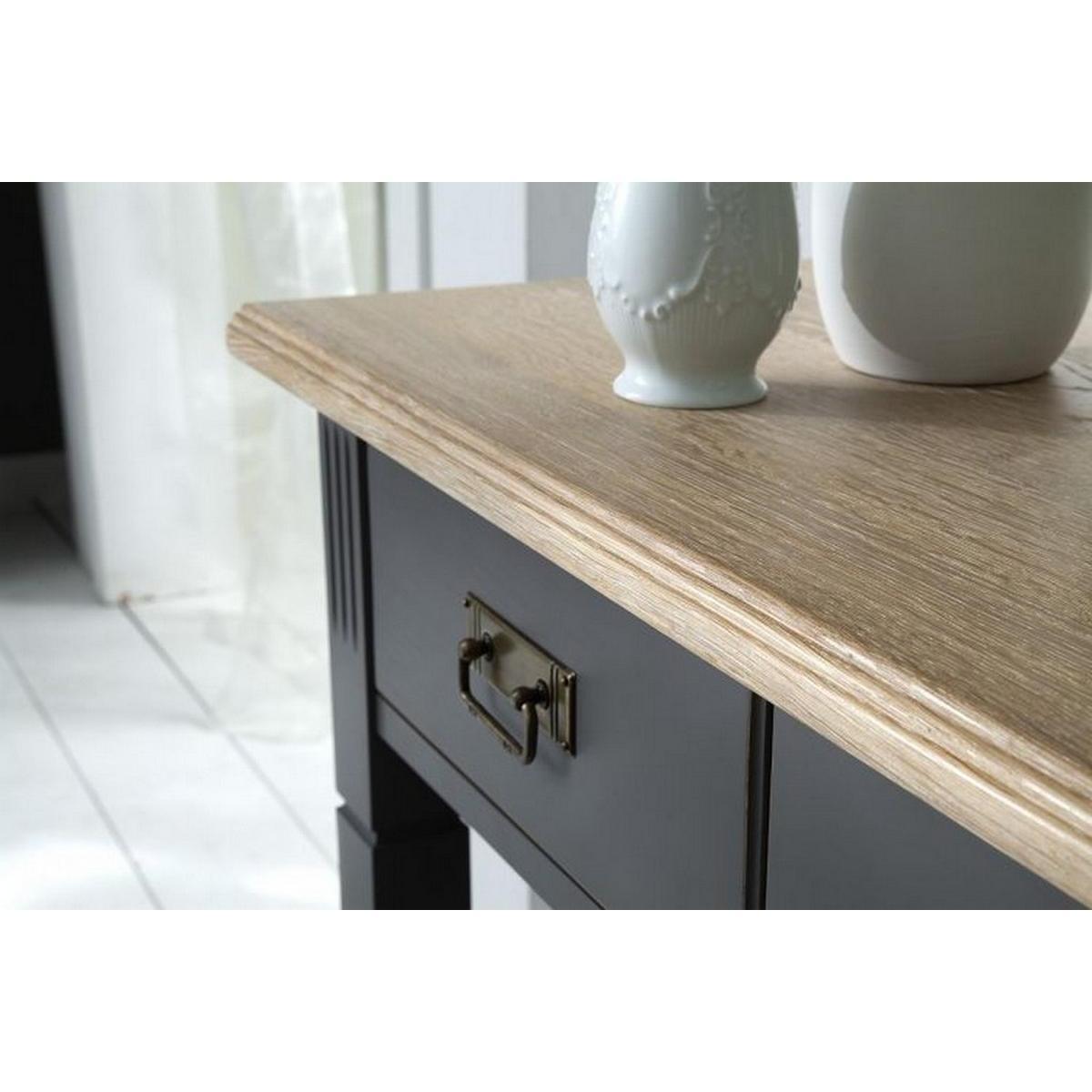 massivholz konsolentisch nordic home kiefer massiv grau. Black Bedroom Furniture Sets. Home Design Ideas