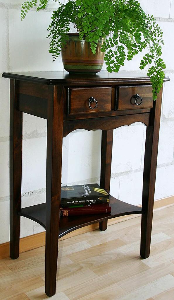 telefontisch beistelltisch konsolentisch braun nu baum. Black Bedroom Furniture Sets. Home Design Ideas