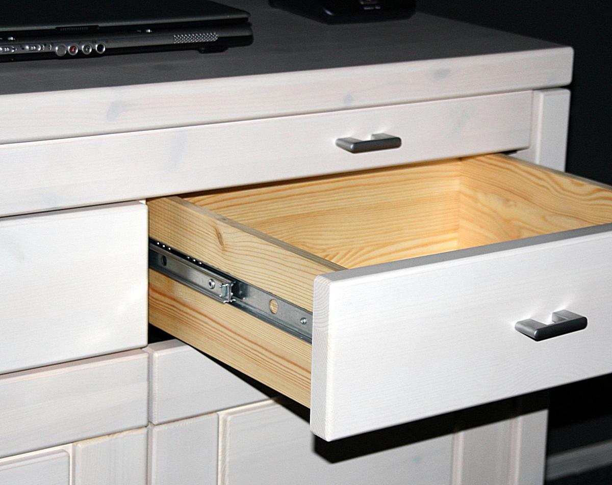 Gartenmobel Outlet Norderstedt : Vollholz LaptopKommode Guldborg  Holz Kiefer massiv weiß lasiert