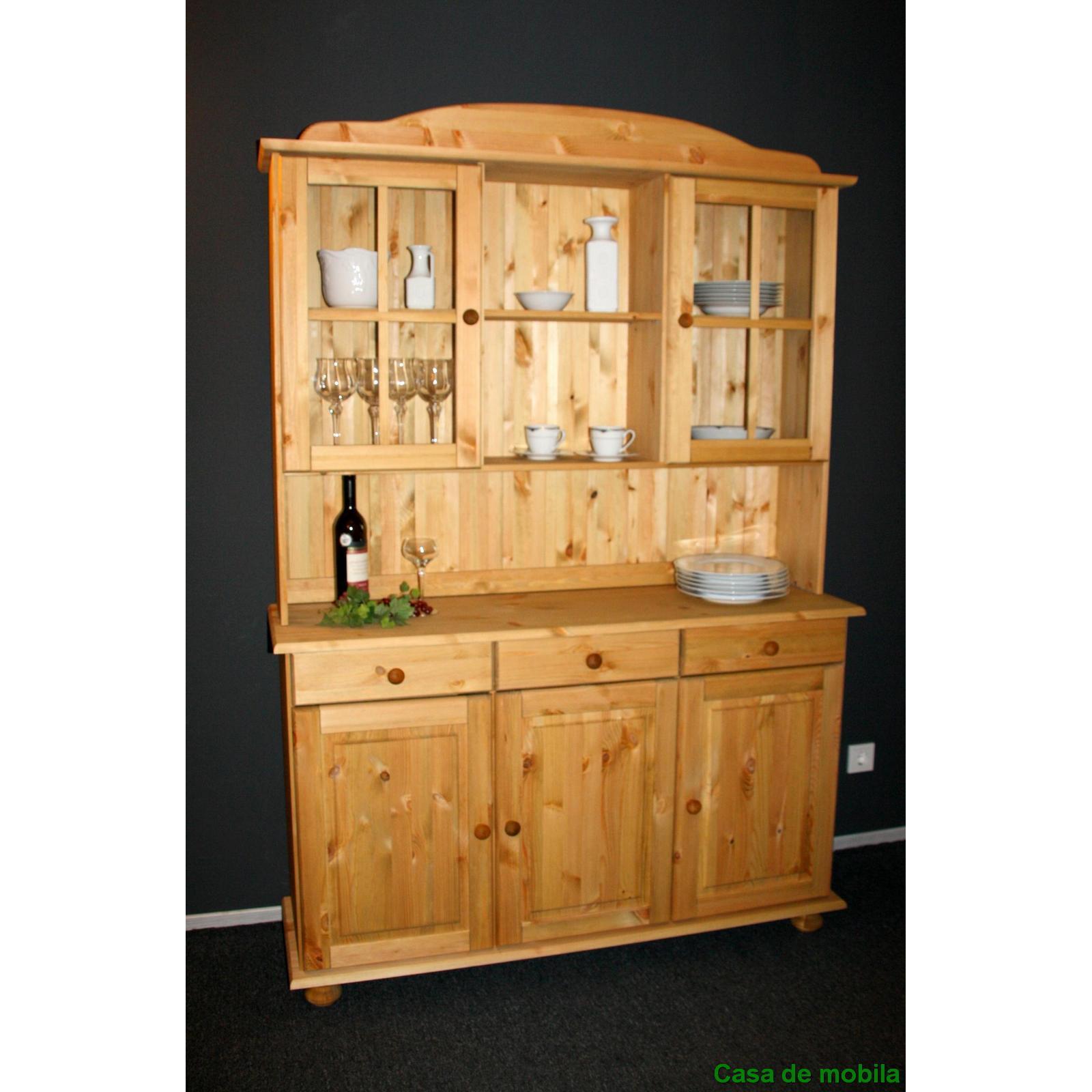 vitrine kiefer massiv wohnzimmer gestaltung. Black Bedroom Furniture Sets. Home Design Ideas