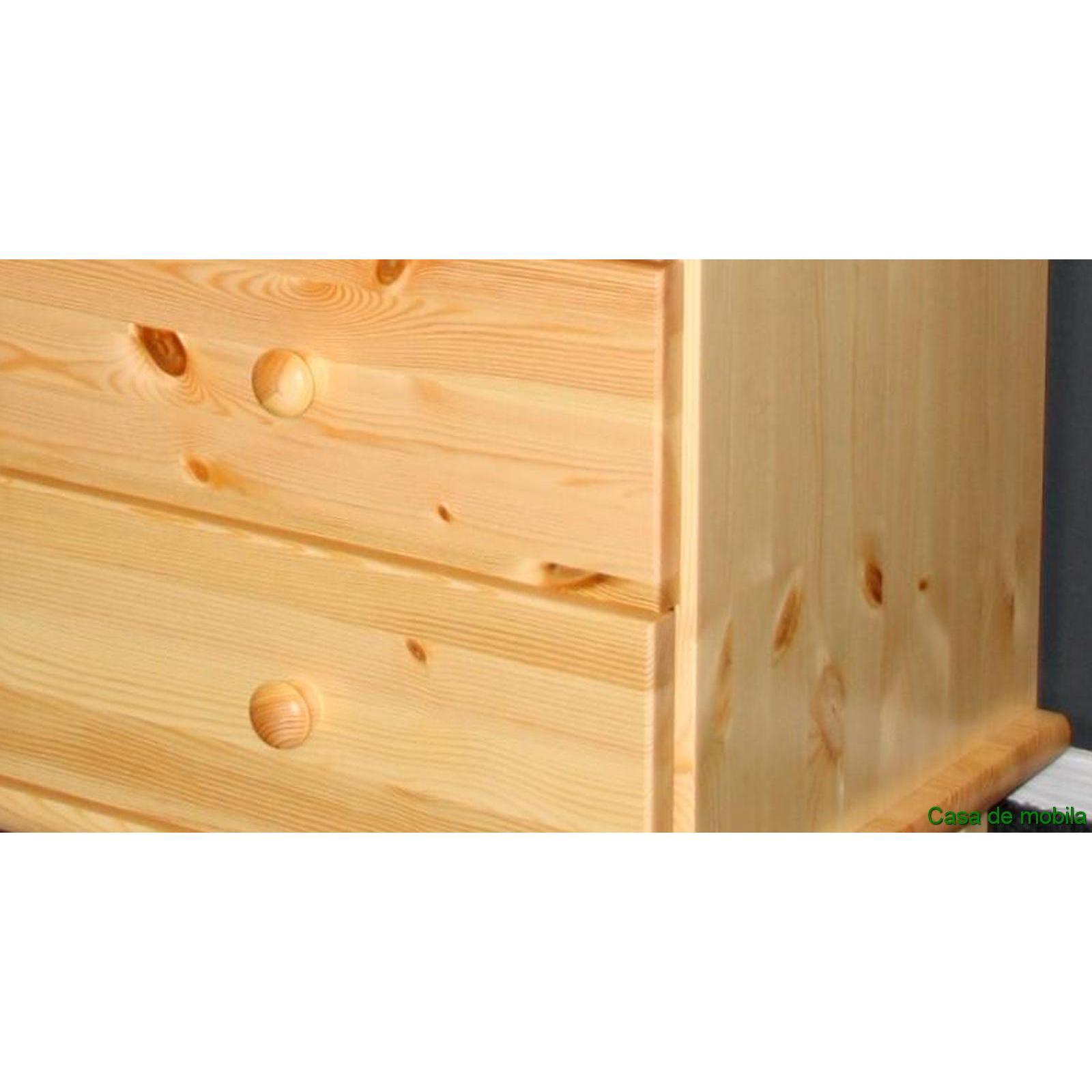 Kommode Kiefer Massiv Natur Lackiert : Massivholz Sideboard Kiefer massiv natur lackiert GOSLAR - Kommode mit ...