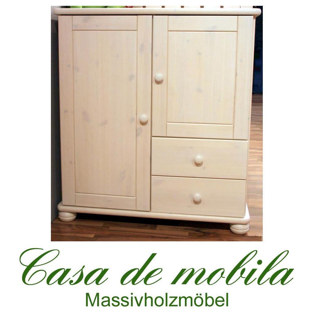 massivholz mehrzweckschrank kiefer massiv wei lasiert goslar kommode mit kugelf en schrank. Black Bedroom Furniture Sets. Home Design Ideas