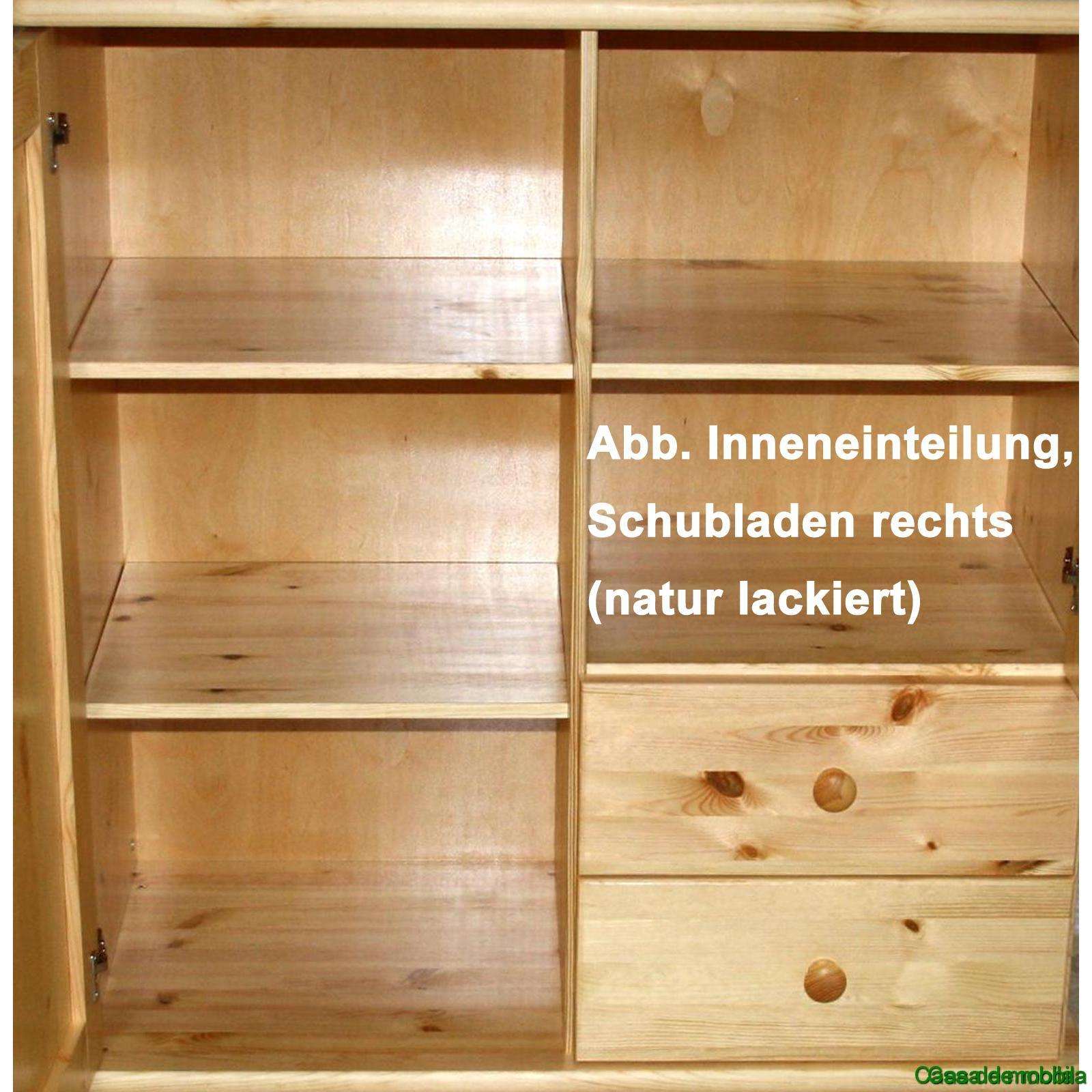 massivholz mehrzweckschrank kiefer massiv wei lasiert goslar kommode mit kugelf en schrank. Black Bedroom Furniture Sets. Home Design Ideas