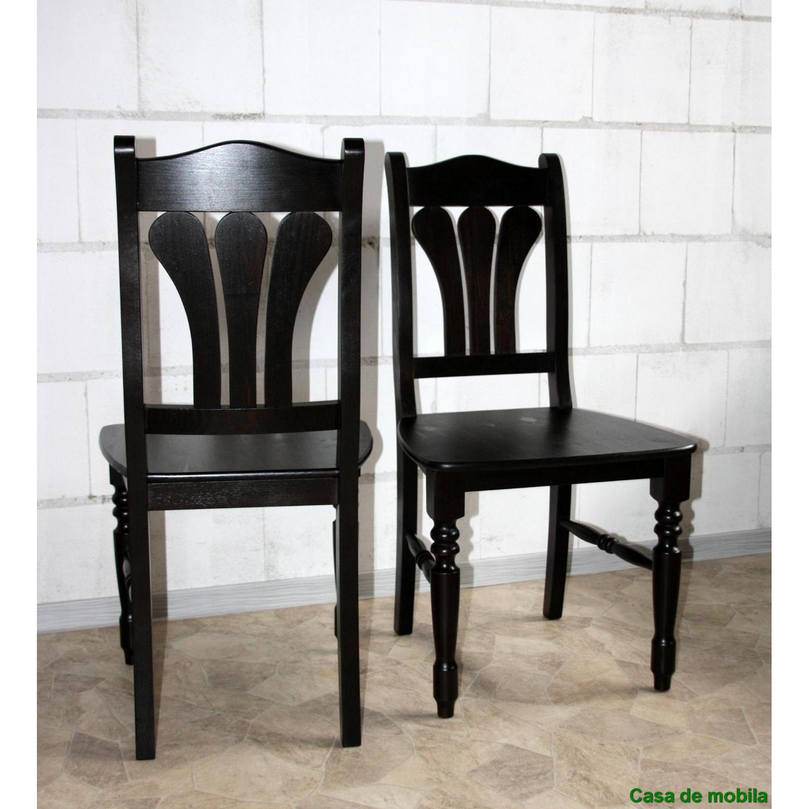 ... Stuhl Stühle kolonial Kiefer massiv lackiert LANDHAUS - Holzstühle