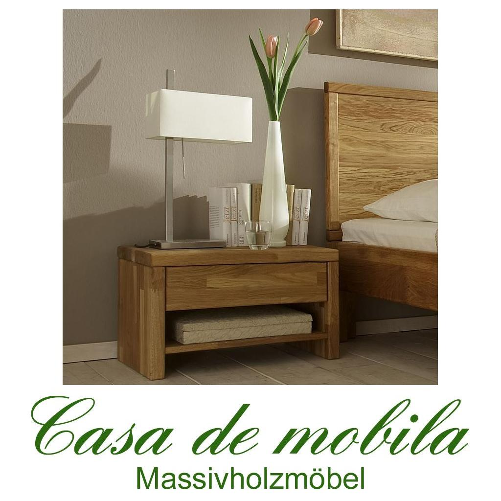 vollholz nachtkommode h he 39 cm eiche massiv holz ge lt easy sleep. Black Bedroom Furniture Sets. Home Design Ideas