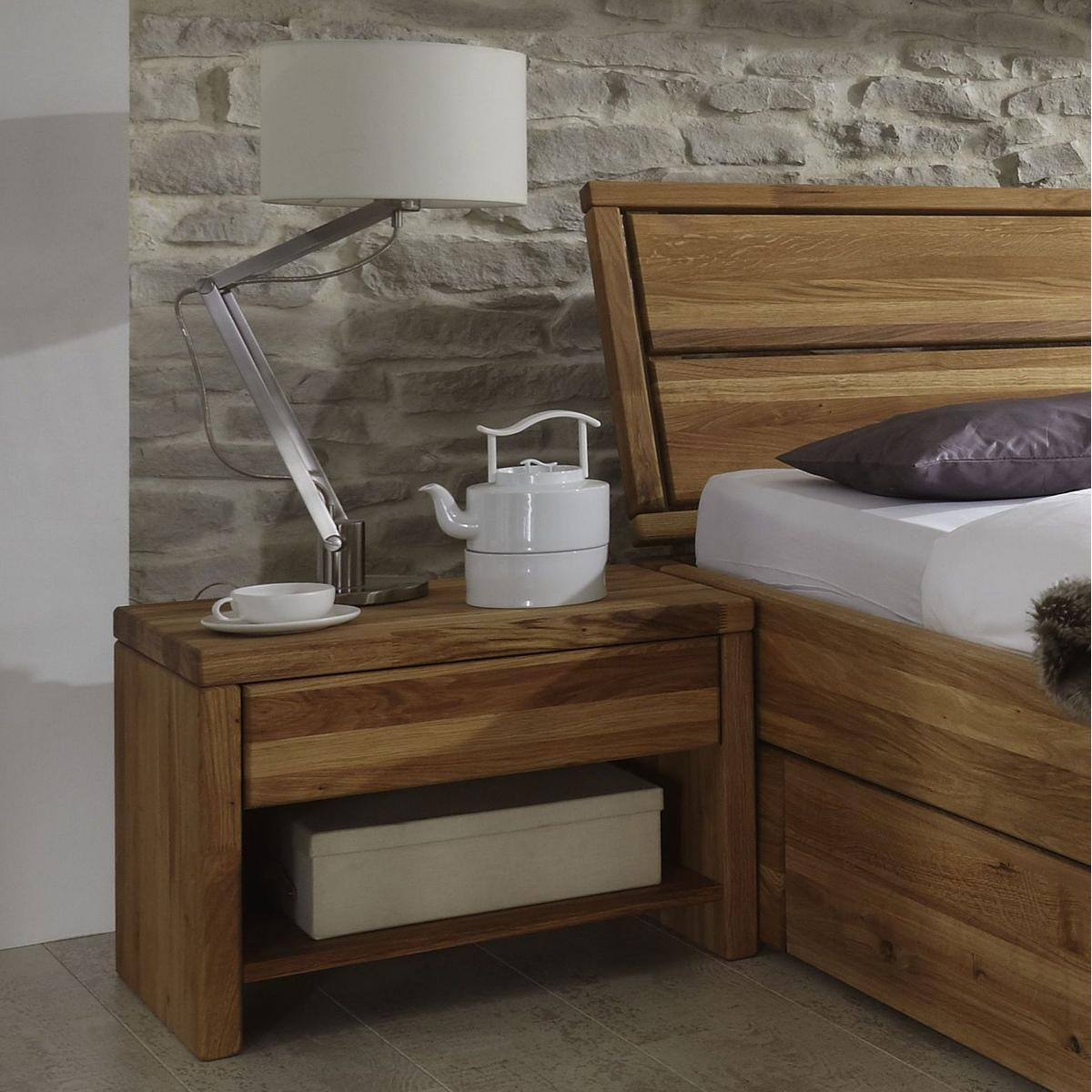 vollholz kernbuche nachtkommode massiv holz ge lt xl easy sleep. Black Bedroom Furniture Sets. Home Design Ideas