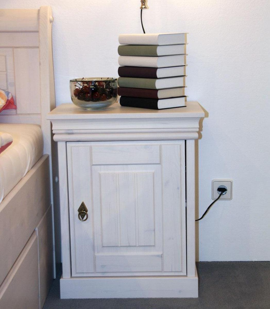 komplettes schlafzimmer weiss 4-teilig komplett holz kiefer neapel - Schlafzimmer Landhausstil Kiefer Weiss