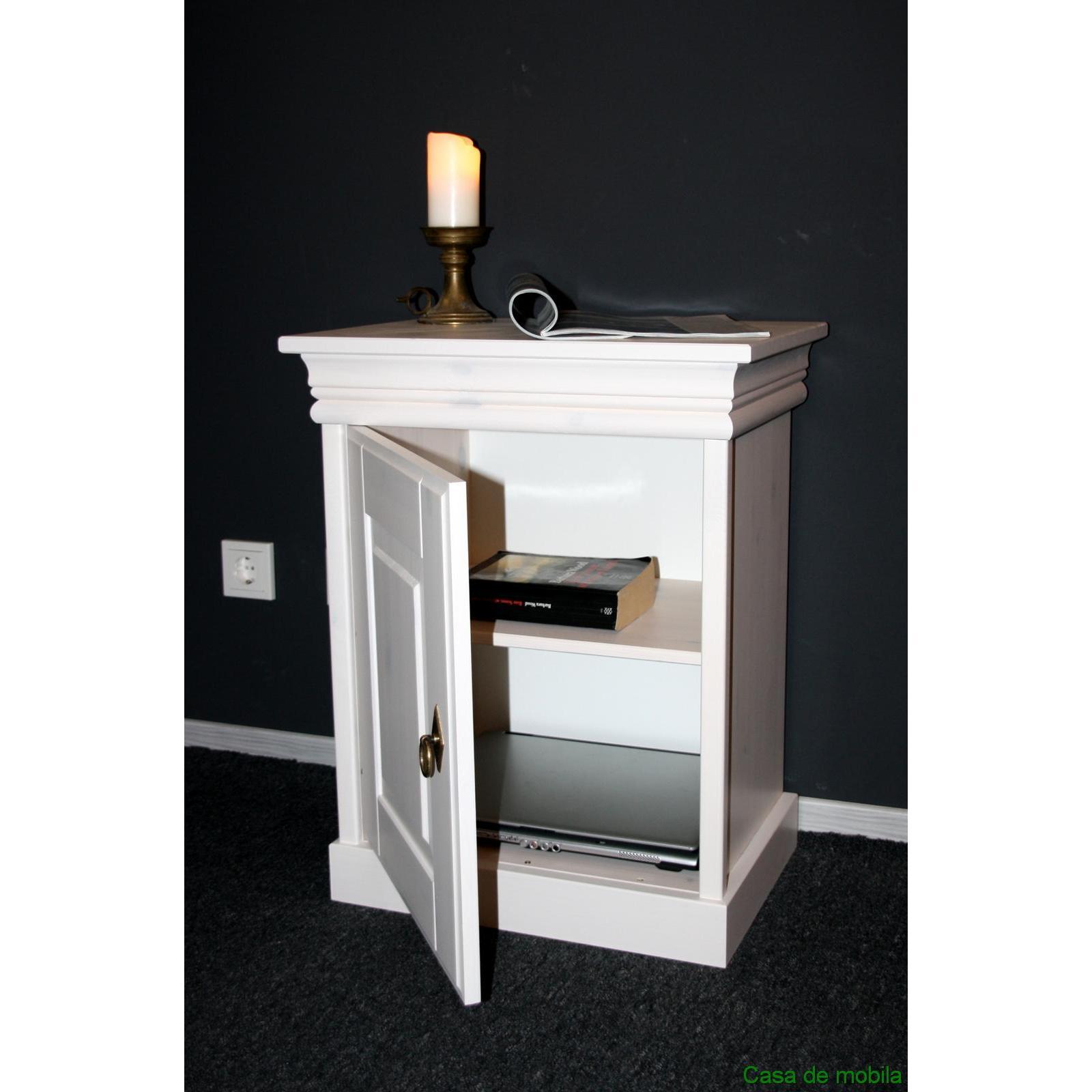 nachttisch landhaus weiss interessante ideen f r die gestaltung eines raumes in. Black Bedroom Furniture Sets. Home Design Ideas
