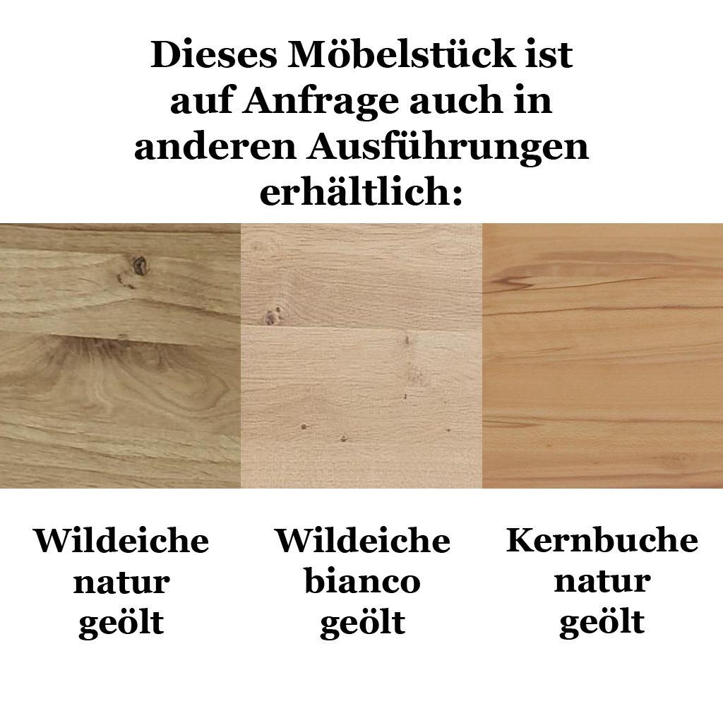 ZOOM Massivholz Vitrine Wohnzimmerschrank