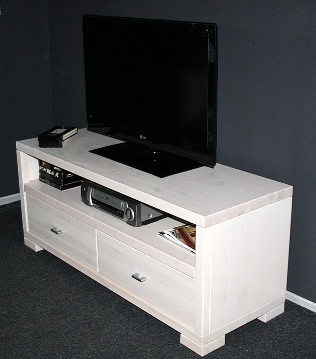 massivholz tv lowboard 120 guldborg kiefer massiv wei lasiert. Black Bedroom Furniture Sets. Home Design Ideas