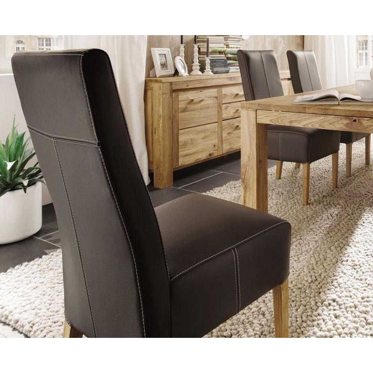 echtleder stuhl polsterstuhl lederst hle braun caffe bei. Black Bedroom Furniture Sets. Home Design Ideas