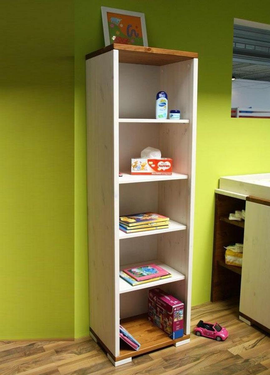 vollholz regal standregal kiefer massiv 2 farbig wei lasier provance lackiert. Black Bedroom Furniture Sets. Home Design Ideas