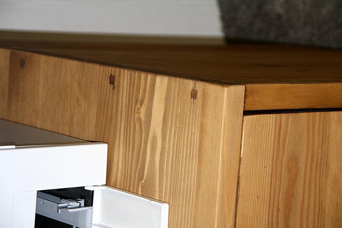 Echtholz Schreibtisch Kiefer massiv balken holz gebeizt gewachst Malmoe