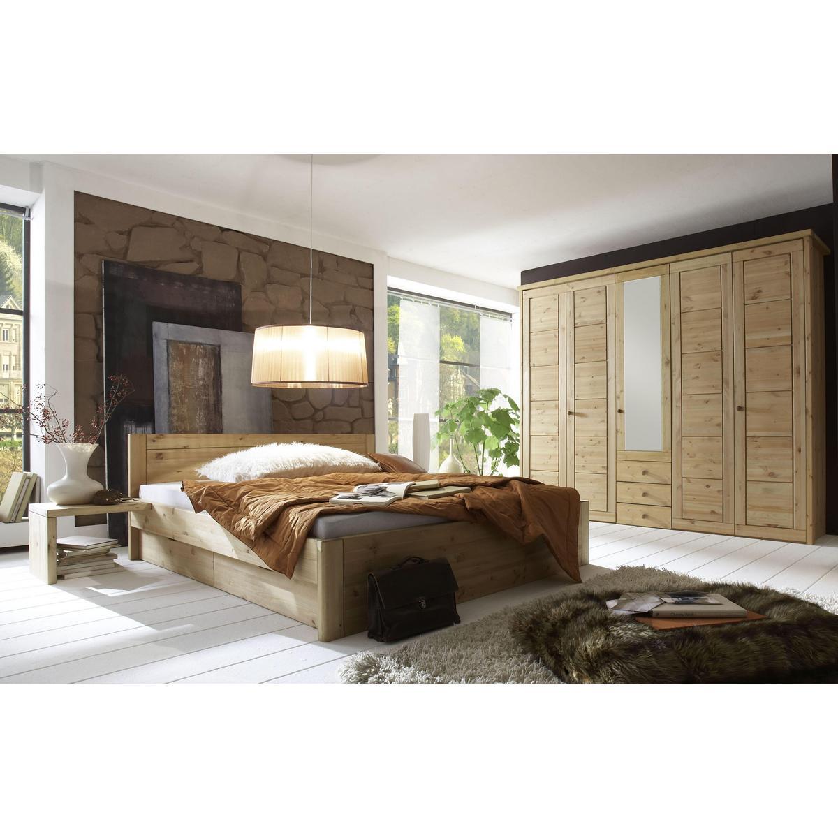 Doppelbett mit schubladen 160x200 rauna xl kiefer massiv for Funktionsbett 160x200