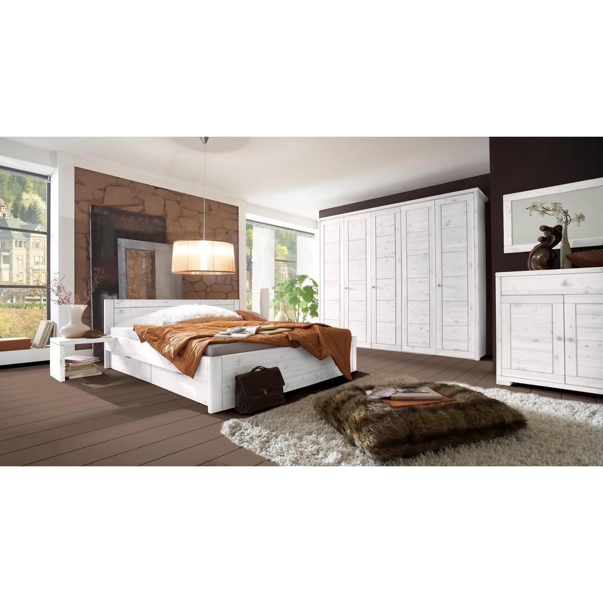 massivholz schubkastenbett weiss kiefer massiv bett mit schubladen. Black Bedroom Furniture Sets. Home Design Ideas