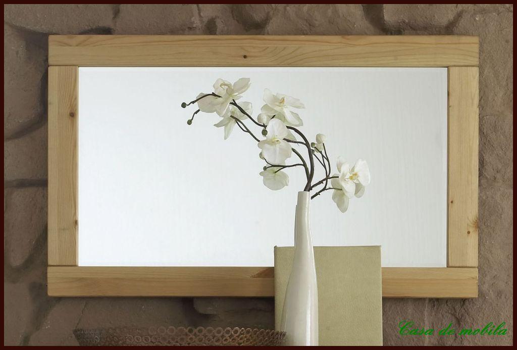 Spiegel flurspiegel garderobenspiegel 100x60 kiefer massiv for Spiegel 100x60