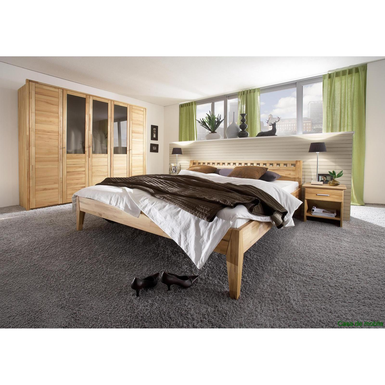 vollholz schlafzimmer m bel komplett kernbuche massiv holz ge lt bett 140x200. Black Bedroom Furniture Sets. Home Design Ideas