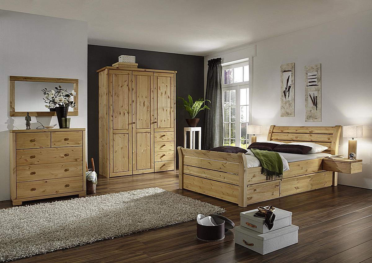 vollholz bettgestell holzbett doppelbett kiefer massiv gelaugt ge lt 140x200 greta. Black Bedroom Furniture Sets. Home Design Ideas