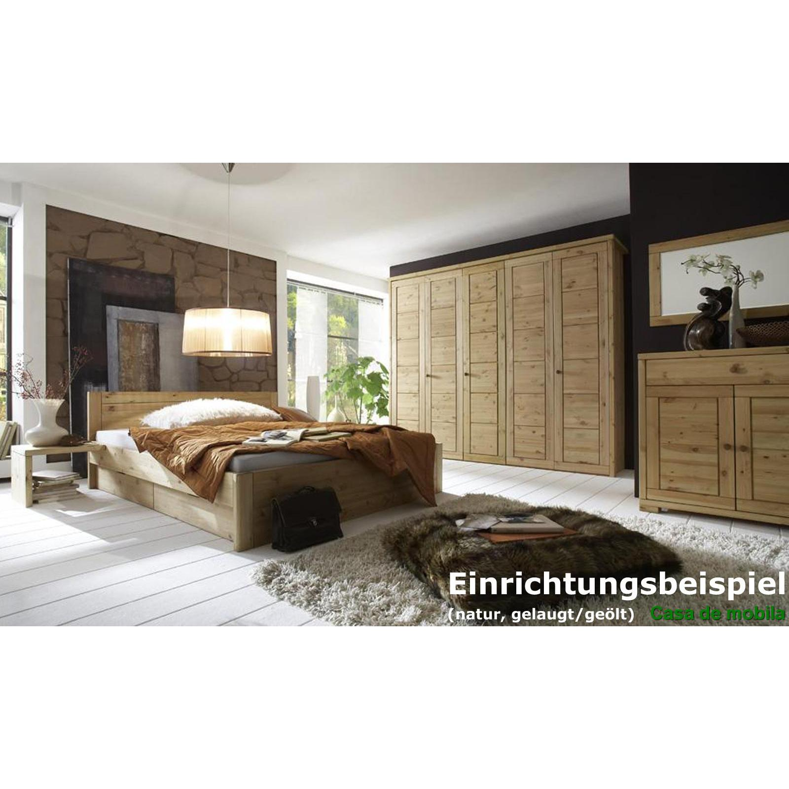 massivholz kleiderschrank kiefer gelaugt ge lt rauna 4 t rig mit kassetten front. Black Bedroom Furniture Sets. Home Design Ideas