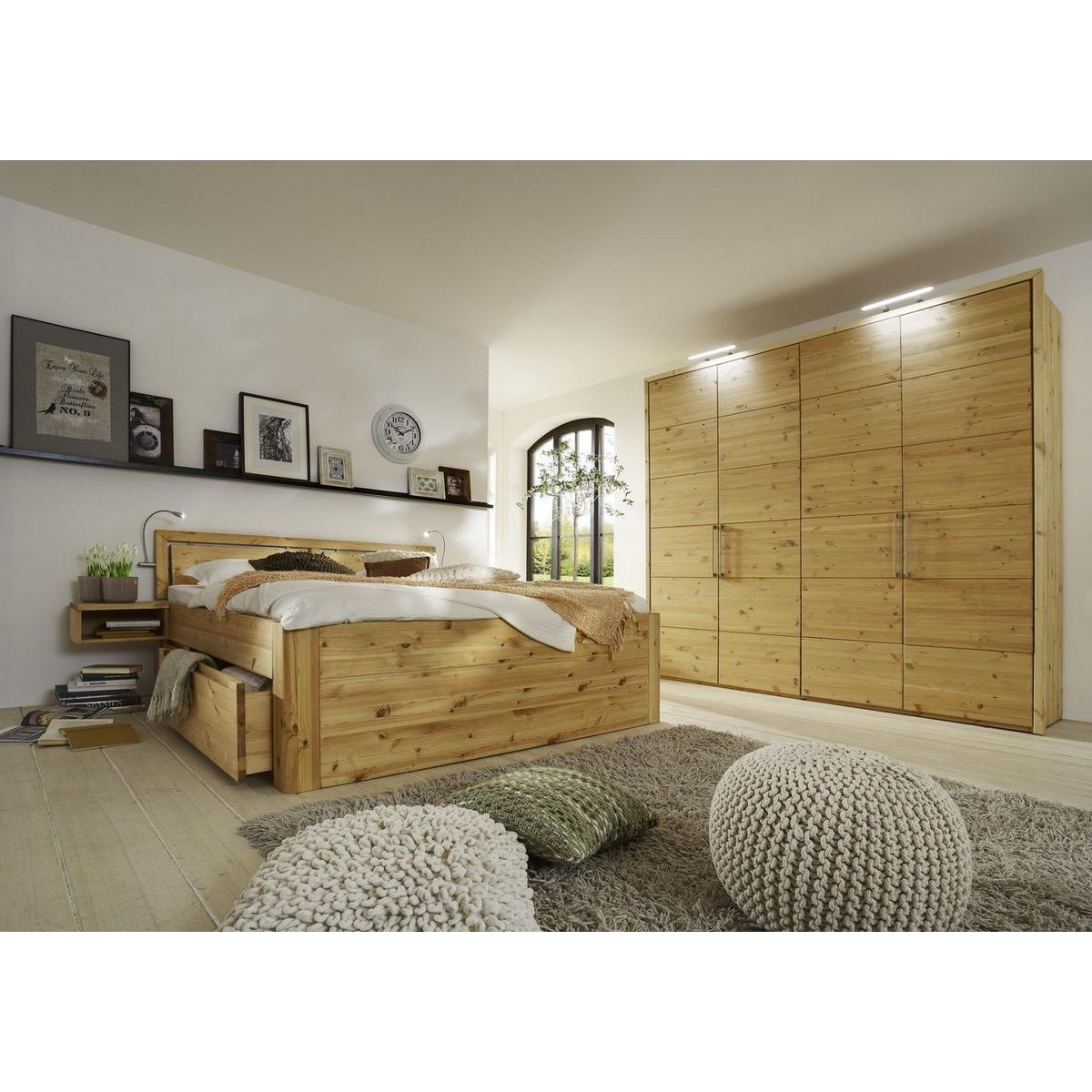 Echtholz Schlafzimmer set 4-teilig kiefer massiv gelaugt geölt GLORIA