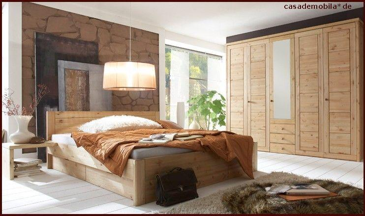vollholz schlafzimmer rauna komplett mit bett 180x200 kiefer massiv gelaugt ge lt schrank. Black Bedroom Furniture Sets. Home Design Ideas