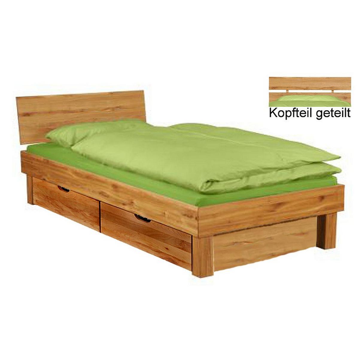 massivholz doppelbett mit schubladen eiche massiv bett wildeiche campino eichenbett 180x200 4. Black Bedroom Furniture Sets. Home Design Ideas