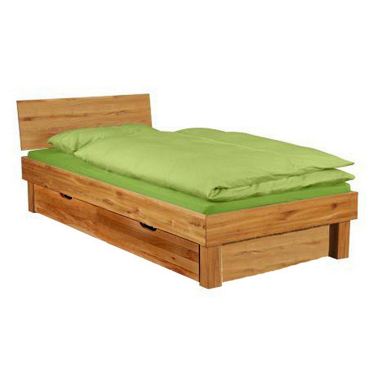 massivholz einzelbett wildeiche campino 100x200. Black Bedroom Furniture Sets. Home Design Ideas