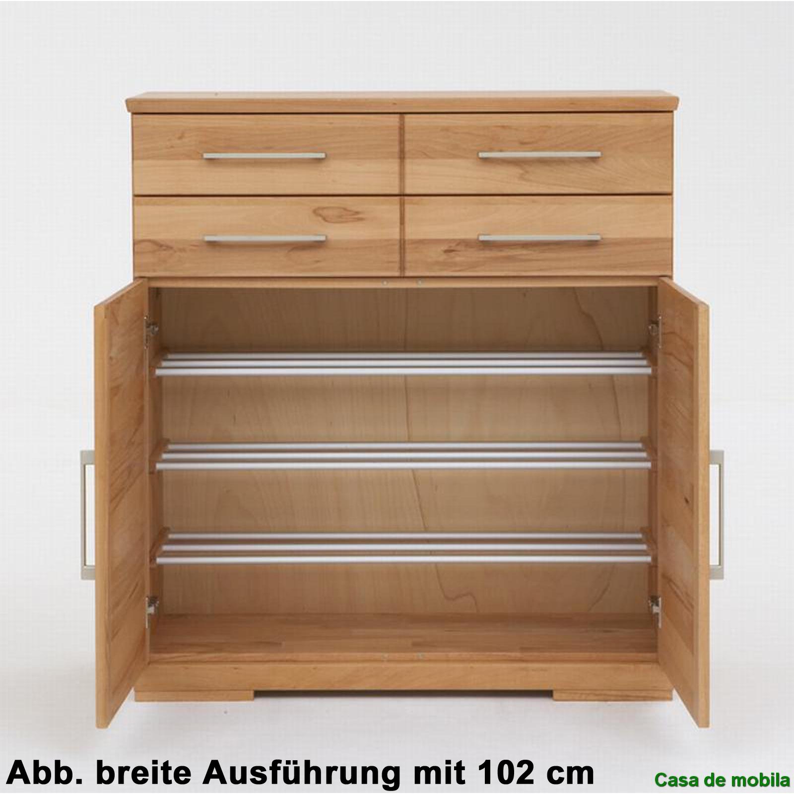 massivholz schuhschrank kernbuche massiv ge lt palermo schuhkommode schmal. Black Bedroom Furniture Sets. Home Design Ideas